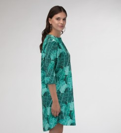 Mr. Gugu & Miss Go, Tropical Leaves Shirt dress Miniaturbild $i