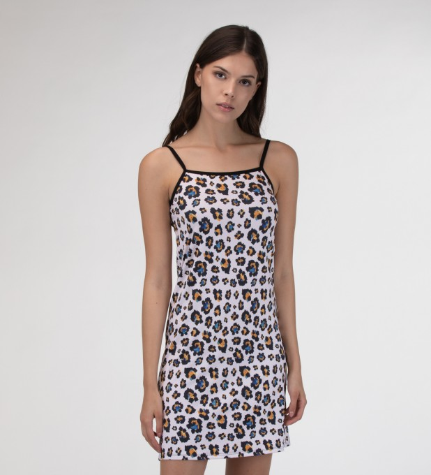 Leopard speckles Strap dress Miniatura 1