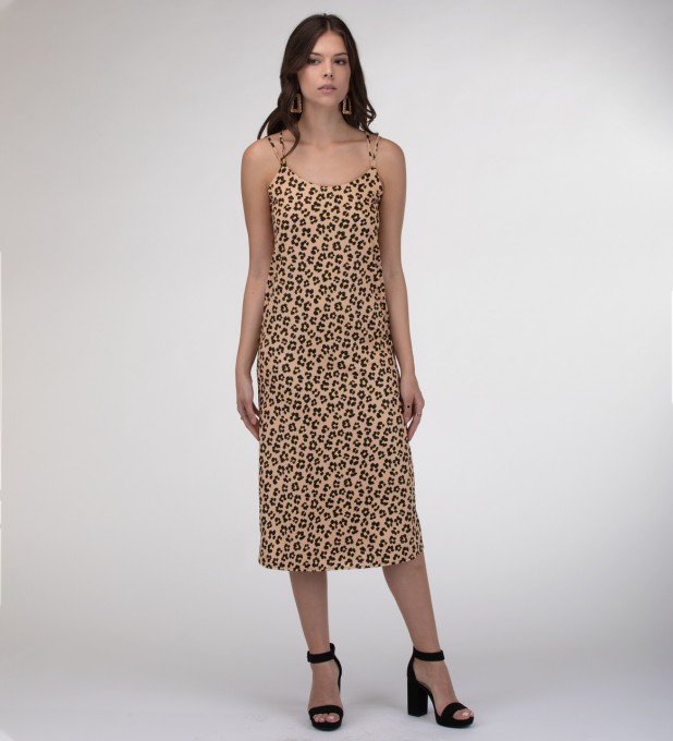 Beige spots Strap dress long аватар 2