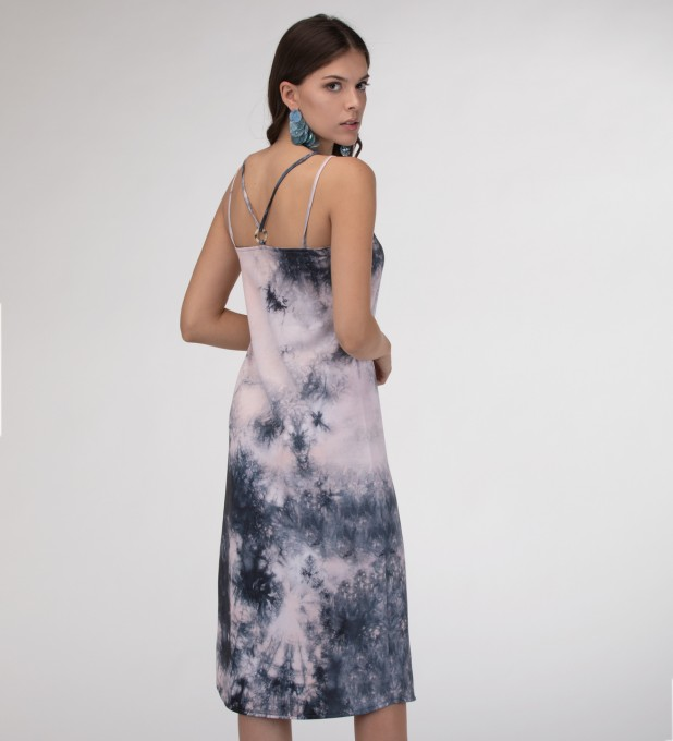Storm Tie dye Strap dress long Miniatura 2