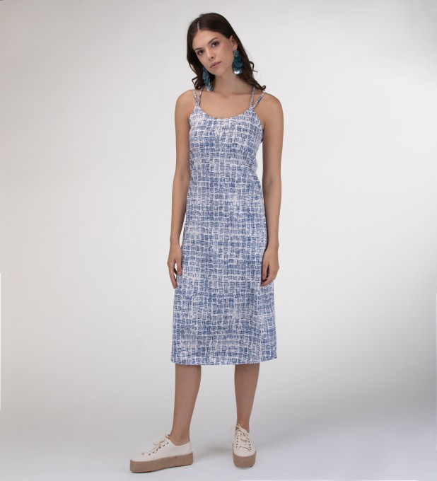 Ocean windows Strap dress long Miniatura 1