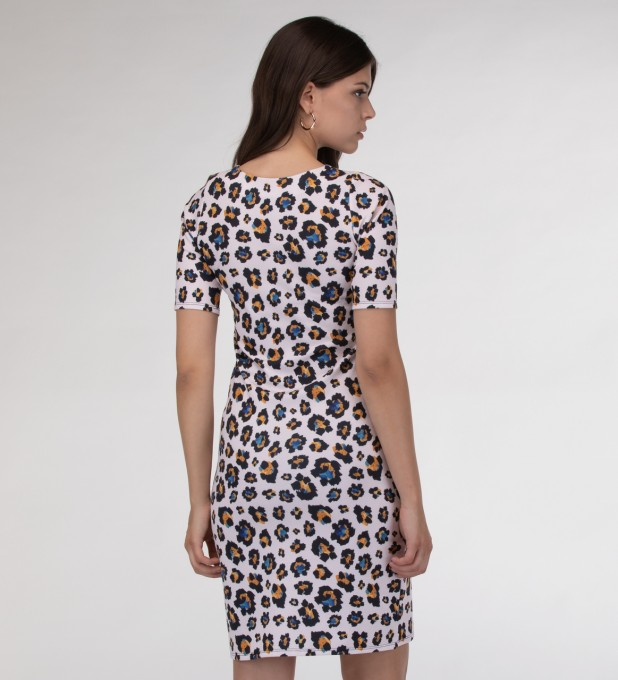 Leopard speckles Slim dress Miniatura 2