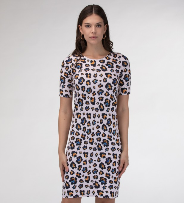 Leopard speckles Slim dress Miniatura 1