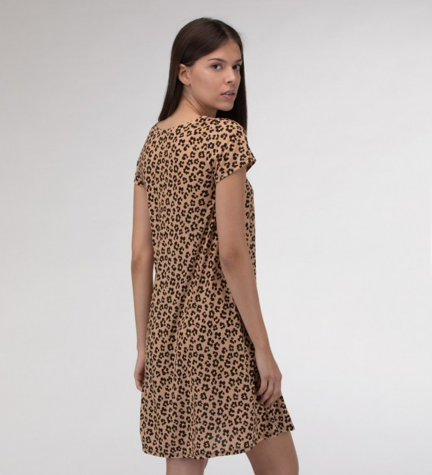 Beige spots Skater dress Miniatura 2