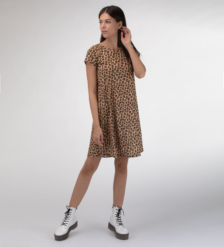 Mr. Gugu & Miss Go, Beige spots Skater dress Foto $i