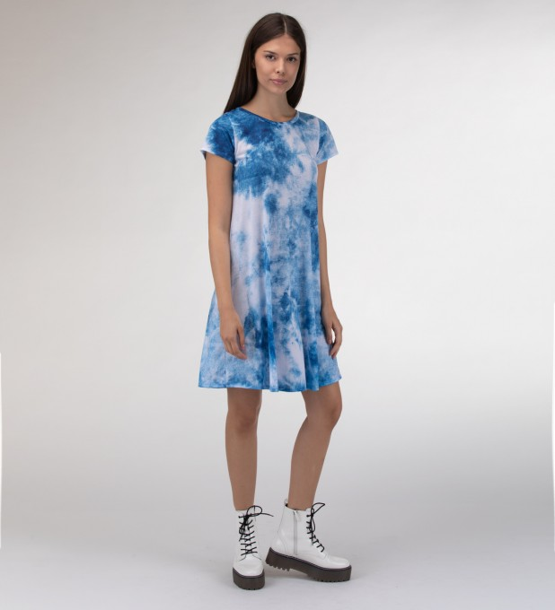 Blue clouds Skater dress Miniatura 2