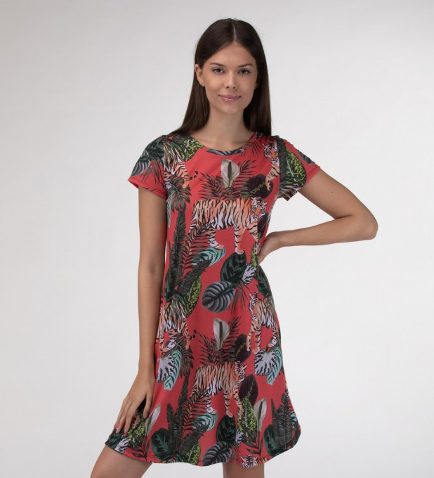 Exotic tiger Skater dress Miniatura 1