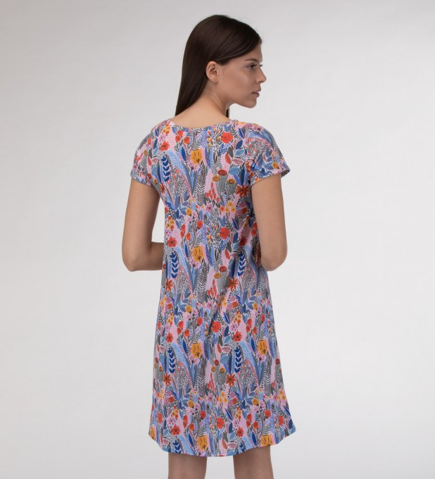 Floral pattern Skater dress Miniatura 2