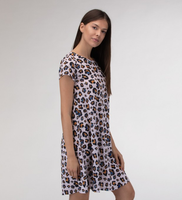 Leopard speckles Skater dress Miniatura 2