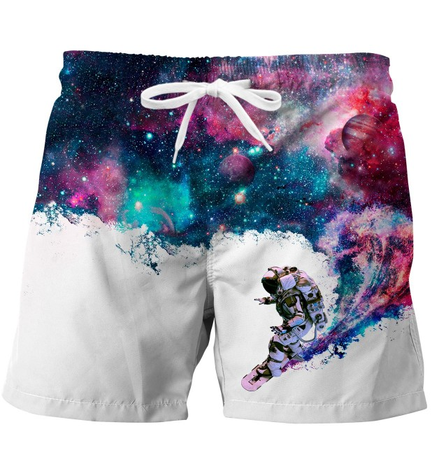 Surfing cosmonaut swim trunks Miniaturbild 1