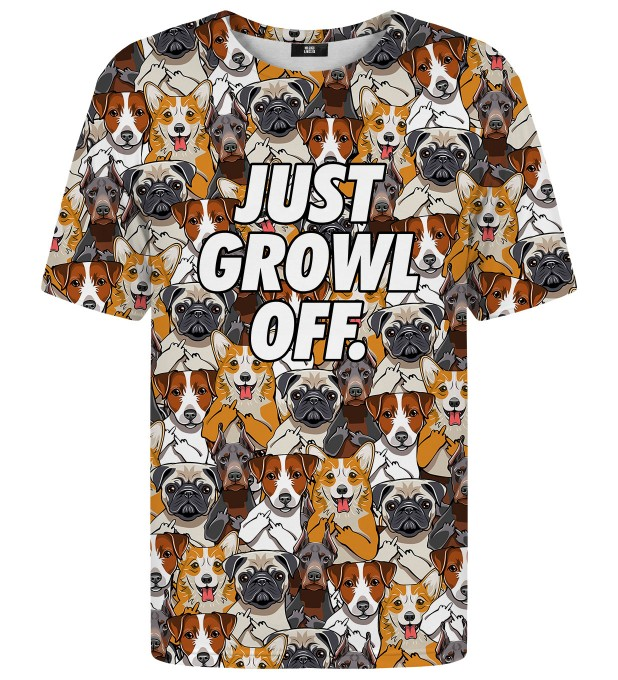 Just growl off t-shirt Miniature 1