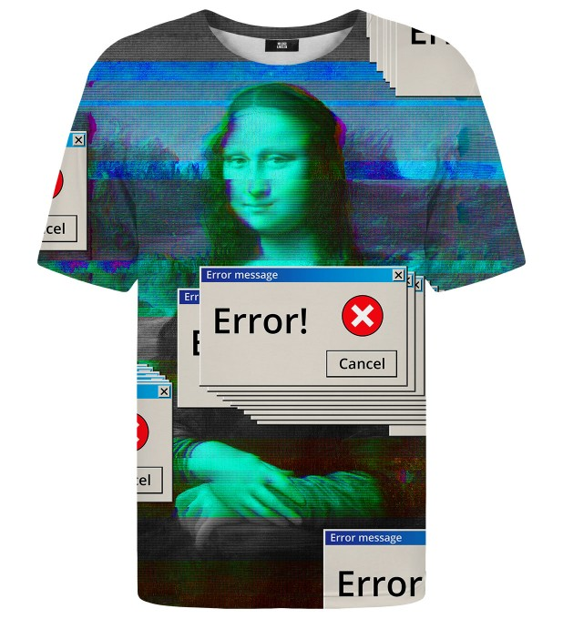 Mona Error Lisa t-shirt Miniature 1