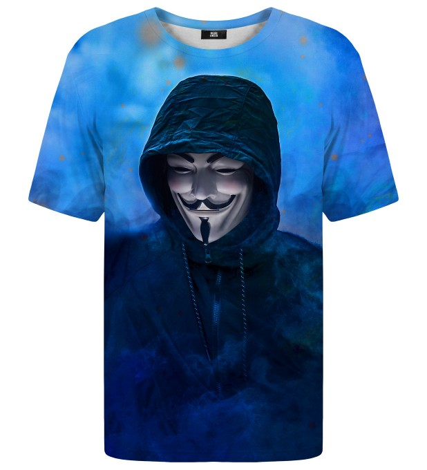 Anonymous Blue t-shirt Miniaturbild 2