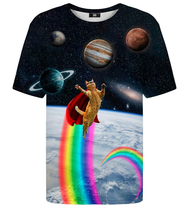 Super Cat in Space t-shirt Miniatura 2