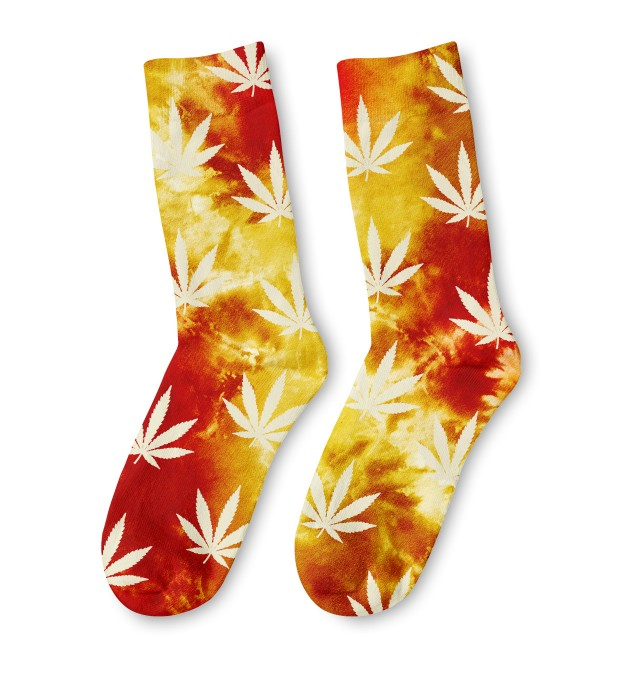 Tie dye jane yellow midi socks Thumbnail 1
