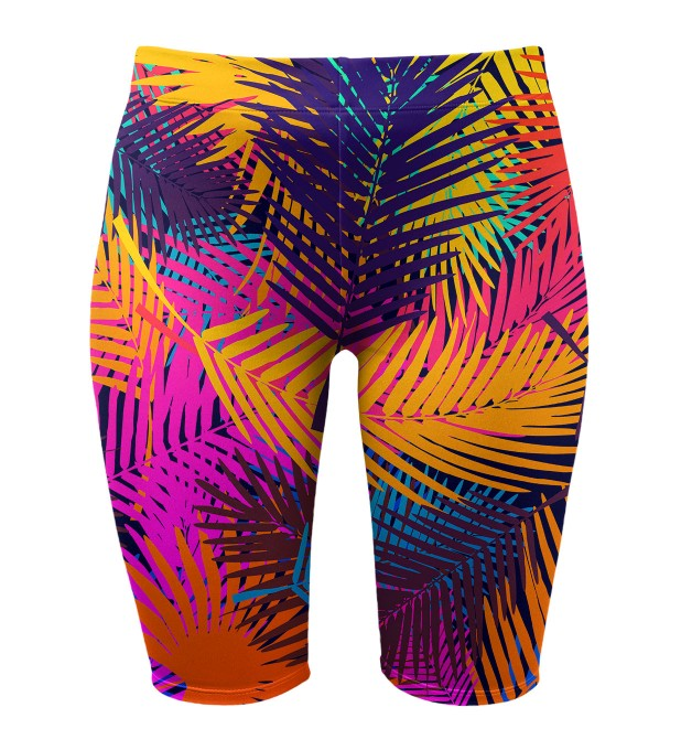 Colorful Palm biker shorts Thumbnail 1