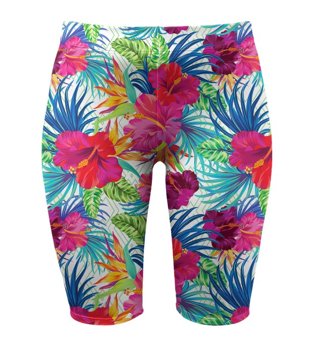 Jungle flowers biker shorts Thumbnail 1