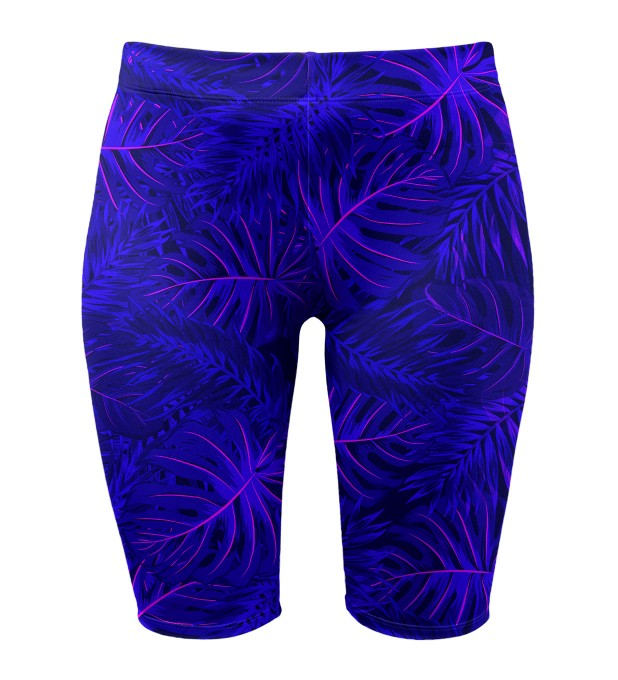 Tropical dark blue biker shorts Thumbnail 1