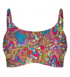 Mr. Gugu & Miss Go, Indian Pattern Crop bikini top Miniatura $i