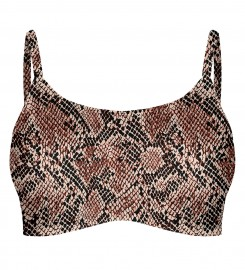 Mr. Gugu & Miss Go, Skin in scales Crop bikini top Miniatura $i