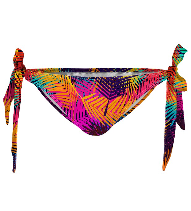 Colorful palm Bikini bows bottom Miniature 1