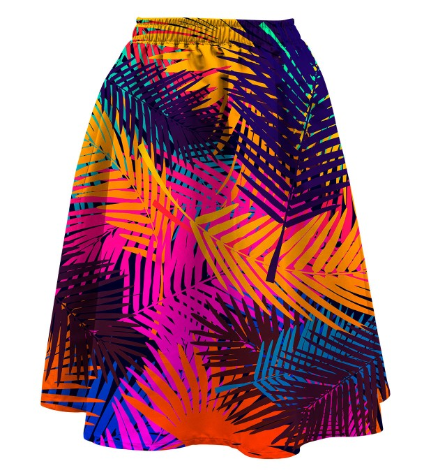 Colorful palm Summer flared skirt аватар 1