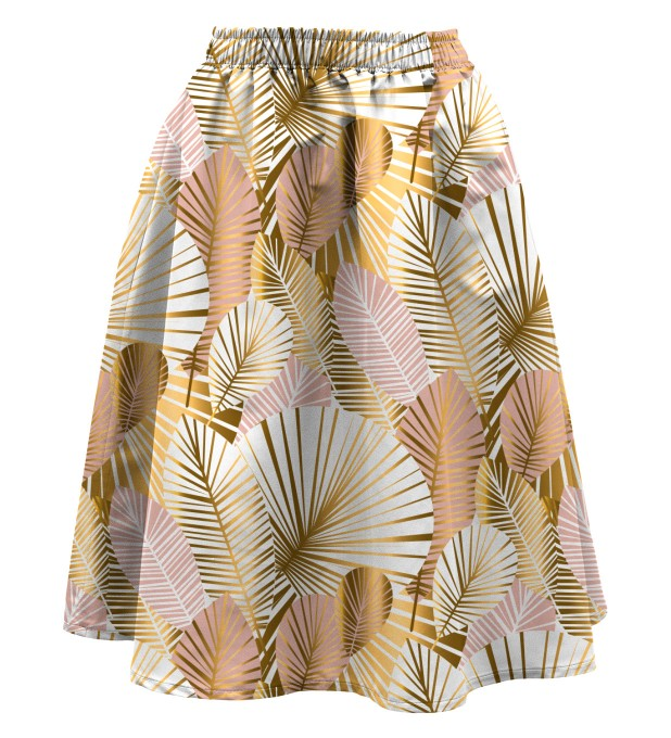 Golden laurels Summer flared skirt Miniature 1