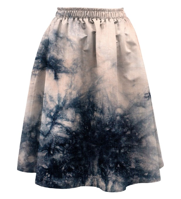 Storm Tie dye Summer flared skirt Miniature 1