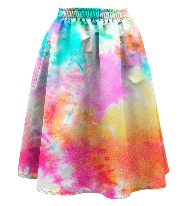 Tie dye Summer flared skirt Miniature 1