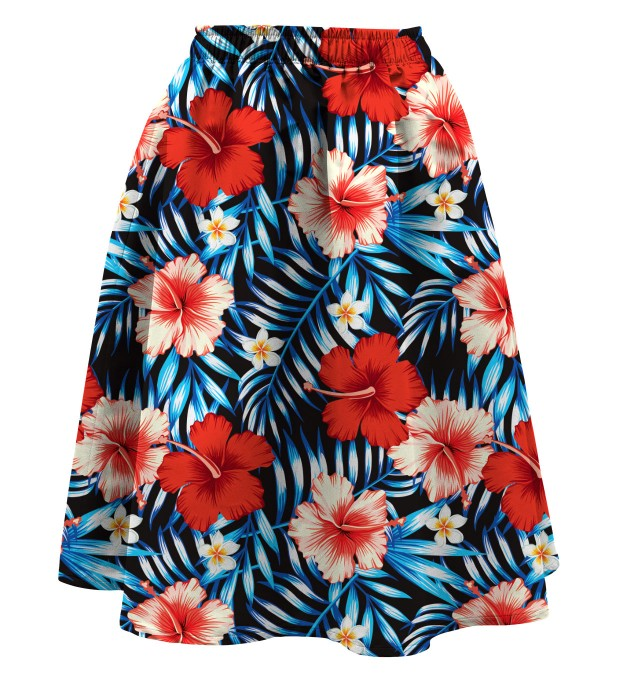 Tropical flowers Summer flared skirt Miniature 1