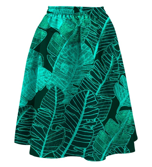 Tropical Leaves Summer flared skirt аватар 1
