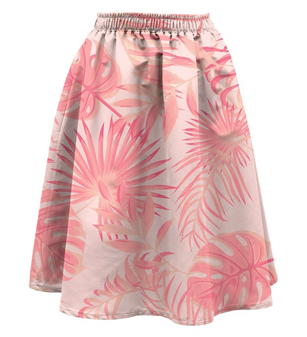 Tropical Pink Summer flared skirt Miniature 1