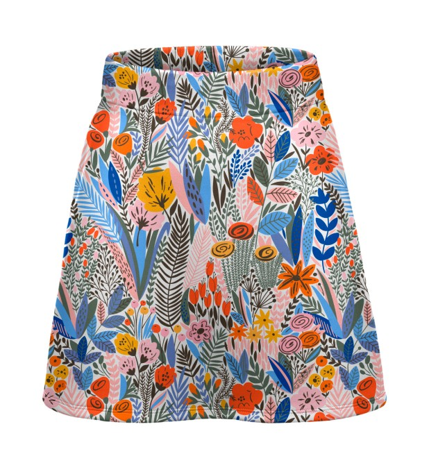 Floral pattern short skirt Miniature 1