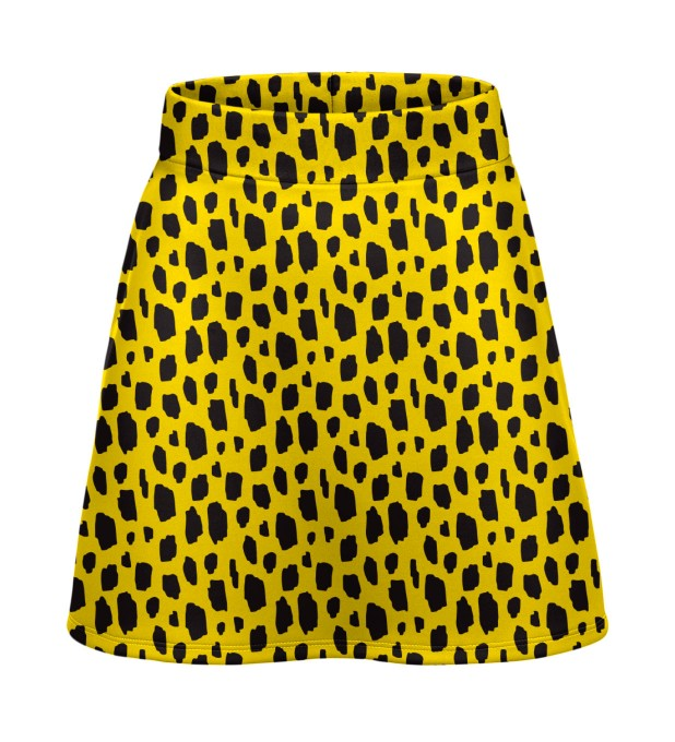 Yellow leopard short skirt Miniature 1
