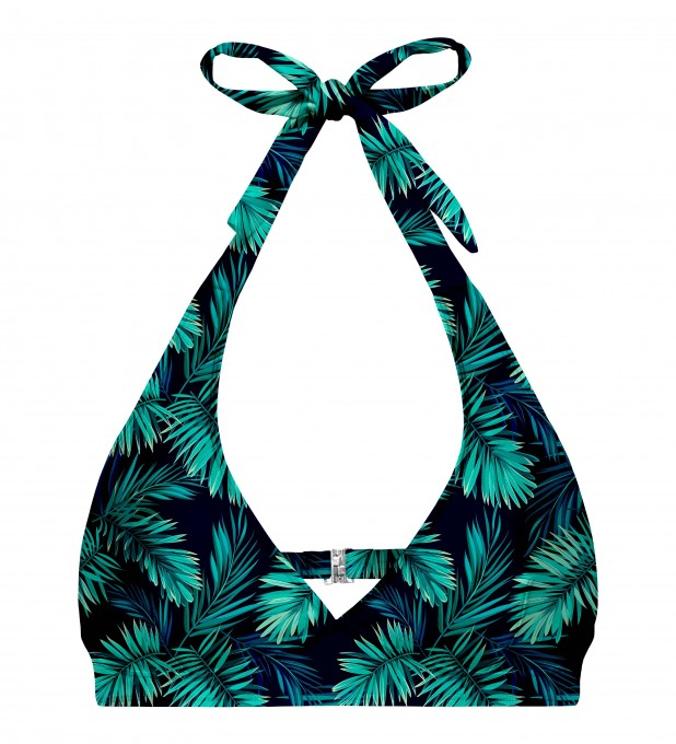 Tropical explosion halter neck bikini top Miniature 1