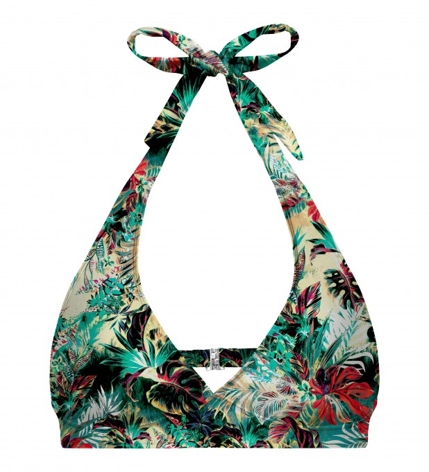 Tropical jungle halter neck bikini top Thumbnail 1