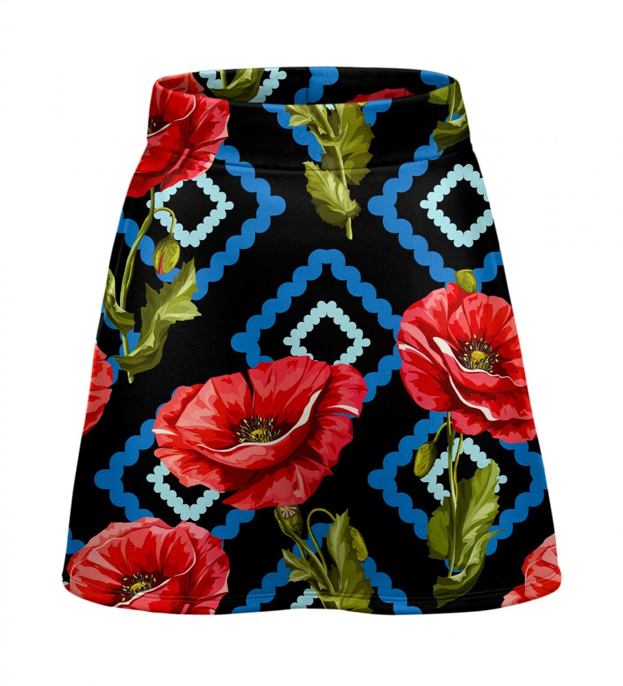 Mr. Gugu & Miss Go, Diamond Poppies short skirt Imagen $i