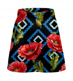 Mr. Gugu & Miss Go, Diamond Poppies short skirt Miniatura $i