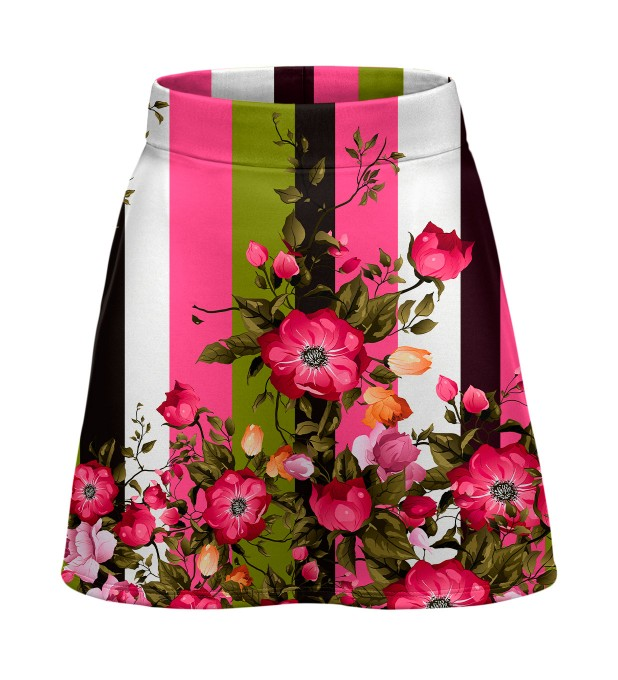 Green-pink wallpaper short skirt Miniatura 1