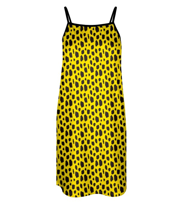 Yellow leopard Strap dress Miniature 1