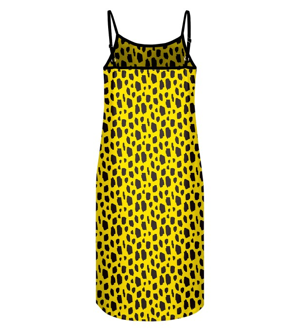 Yellow leopard Strap dress Miniature 2