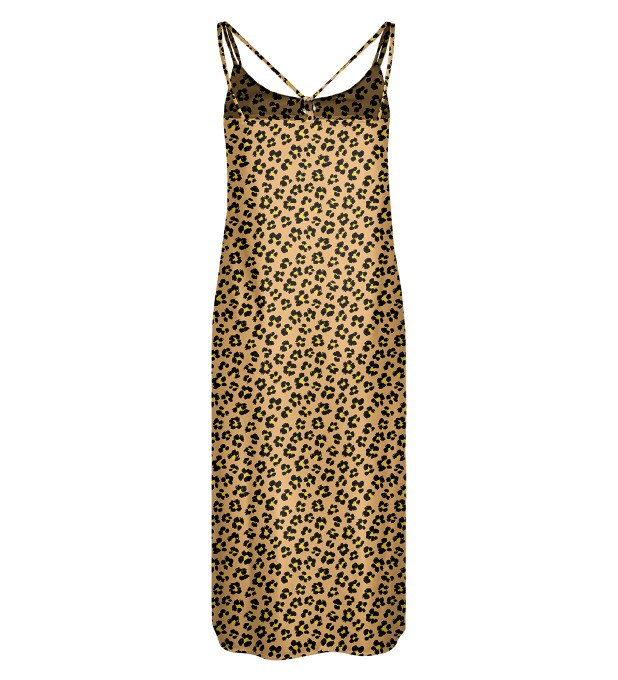 Beige spots Strap dress long Miniatura 2