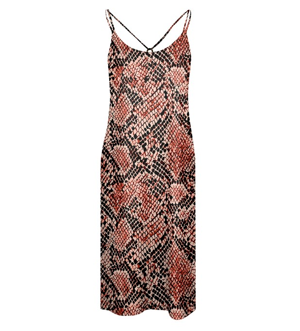 Skin in scales Strap dress long Miniature 1