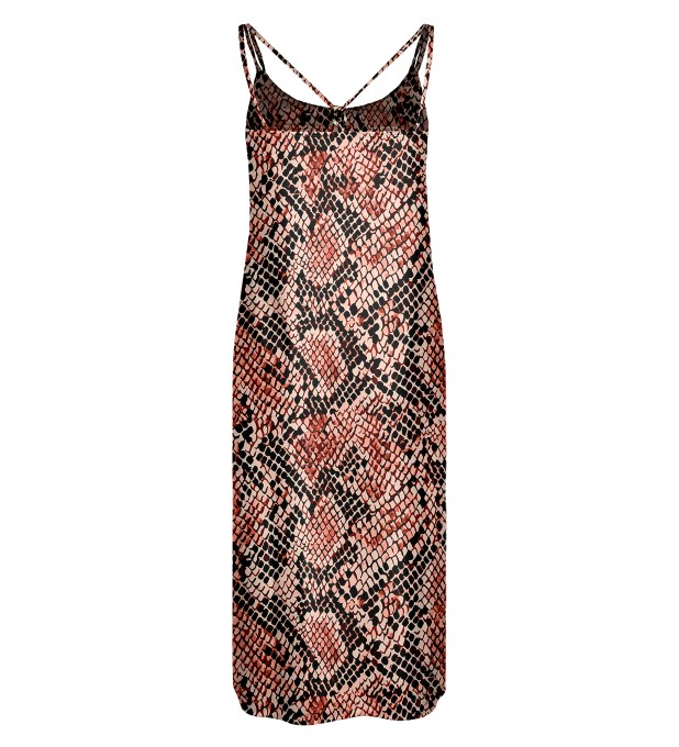 Skin in scales Strap dress long Miniature 2