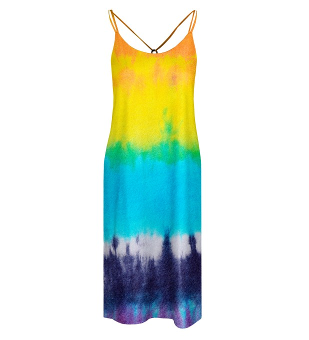 Splashy Tie Dye Strap dress long Miniature 1