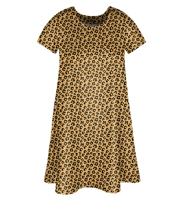 Beige spots Skater dress Miniatura 1