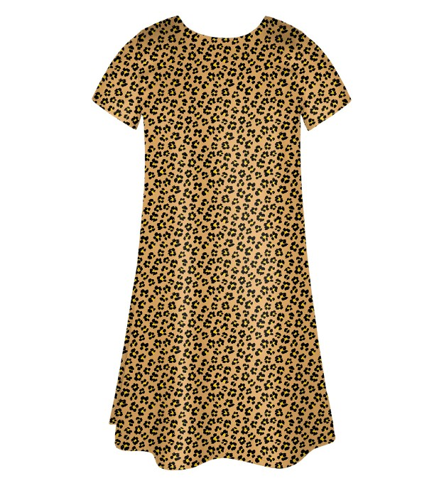 Beige spots Skater dress Miniature 2