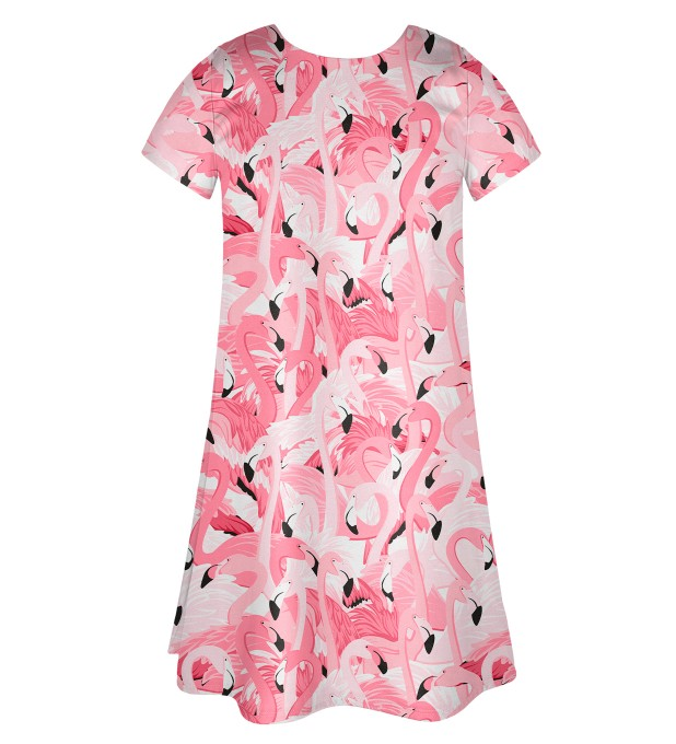 Flamingo flock Skater dress Miniature 2