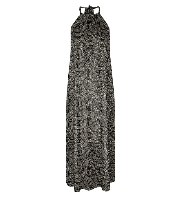 Brown Chains Halter dress Miniatura 1