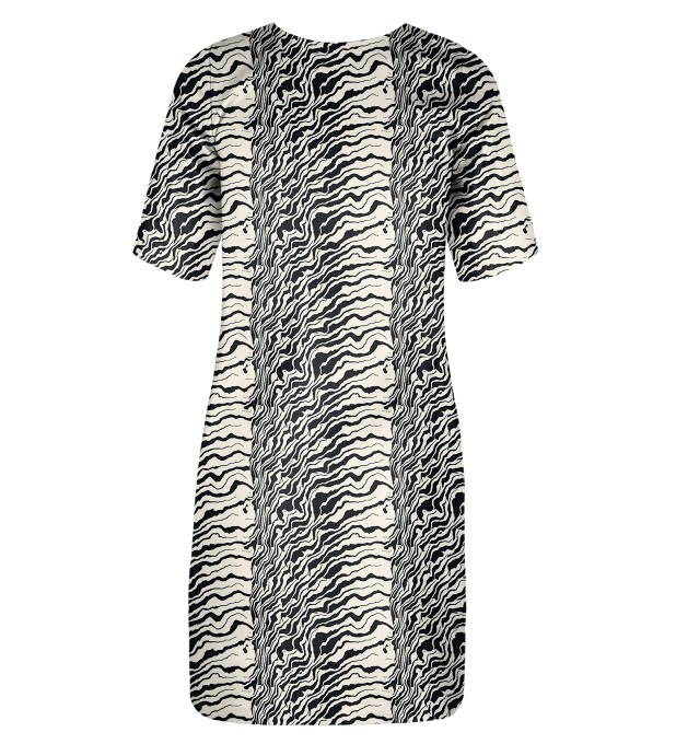 Black and white waves Slim dress Miniature 2